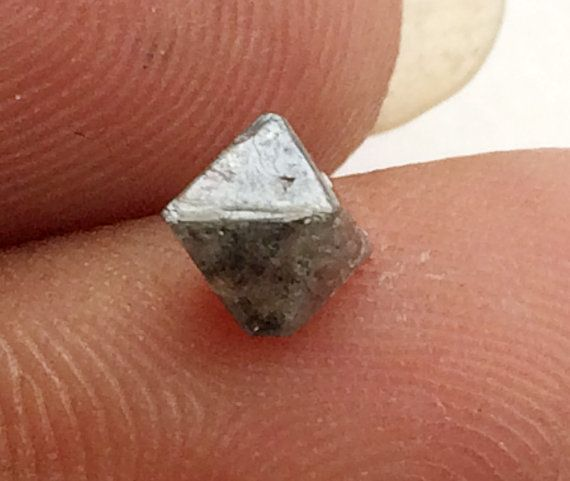 Grey Rough Diamond Crystal Raw Diamond Uncut by gemsforjewels