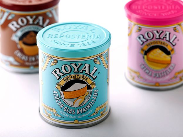 Royal Repostería, new packaging, design by Columna Brand Strategy & Colors