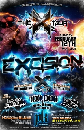 Excision X Tour at The House of Blues in San Diego.