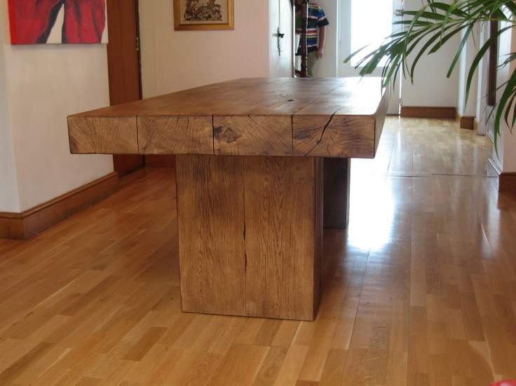 atlas chunky oak hidden home. rustic oak chunky beam dining table atlas hidden home