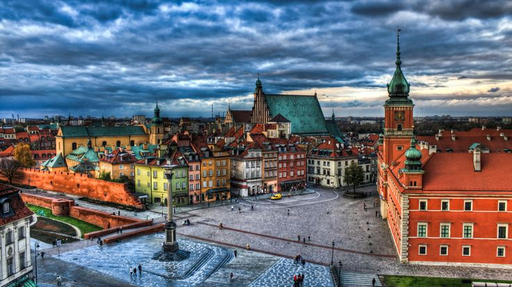 Sunset over the old town of Warsaw, Poland. Buy posters/prints at http://www.redbubble.com/people/pixog/works/10734401