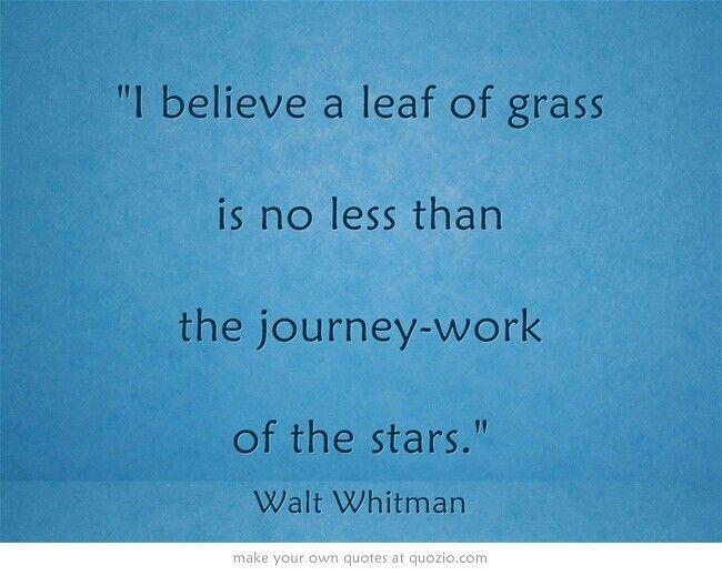 Walt Whitman - A leef of grass