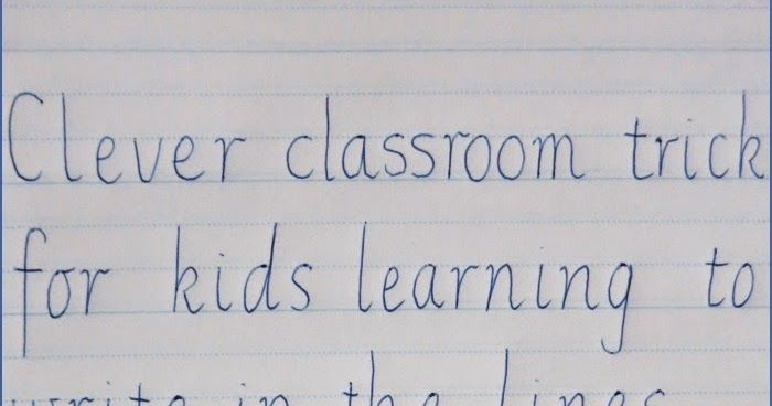 Clever classroom trick for kids learning to write in the lines. #kids #children #learning #toddler #momlife #kidslife http://bit.ly/2iU1YkB
