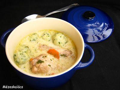 Mézeskalács konyha: Tejfölös csirkeszárny leves burgonyagombóccal