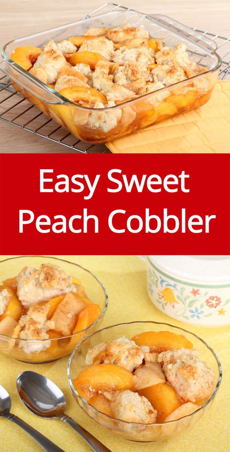 Easy Peach Cobbler Recipe Made With Fresh Sweet Peaches! (from MelanieCooks.com)