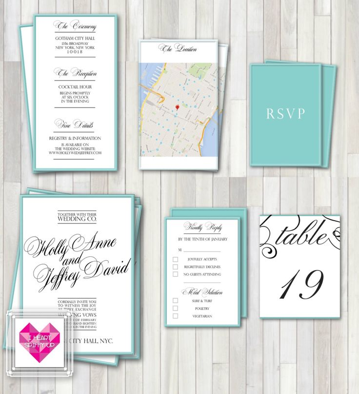 PRINTABLE Wedding Invitation Set -The Classic Romance Wedding Invite Suite and DIY Print Package or Pocket Invitation Template - DIGITAL by SpiffyUp on Etsy