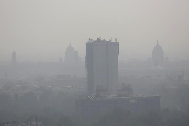 Cloud Of Smog In Delhi, North India Morning After Diwali - http://thehawk.in/news/cloud-of-smog-in-delhi-north-india-morning-after-diwali/