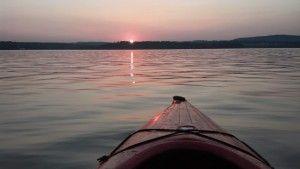 Sunset on the Hudson River near Fishkill NY