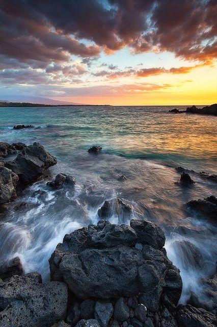 Hapuna Beach, Big Island near the Mauna Lani Bay Hotel on the Kohala Coast.