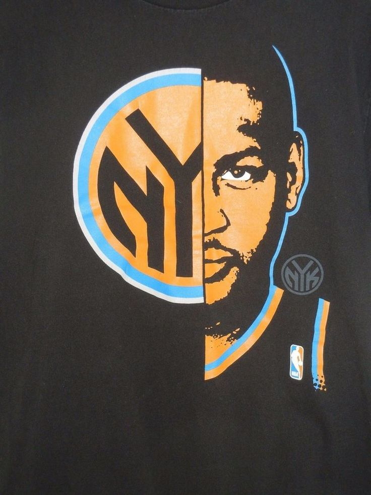 Carmelo Anthony New York Knicks size M black t-shirt NBA Exclusive Collection #NBA #NewYorkKnicks