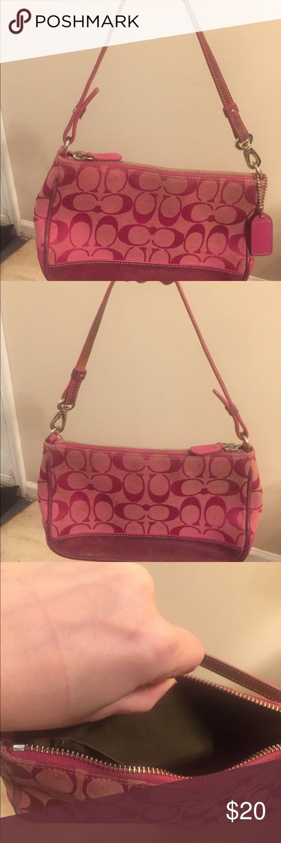 Pink coach purse Gently worn pink small coach purse Coach Bags Shoulder Bags