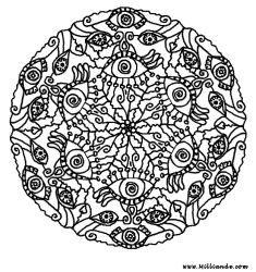 Adult Mandala Coloring Pages: Faces Mandala Coloring Page Hopoff For ...  Detailed Mandala Coloring Pages For Adults