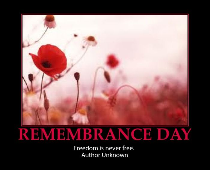 REMEMBRANCE DAY-INSPIRATIONAL POSTER AND QUOTE