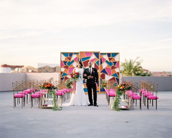 www.chasingblissdesign.com Modern Meets Bohemian Wedding Inspiration