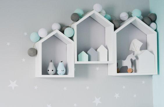 półki domki pokój dziecięcy