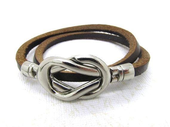 Simple and stylish leather braceletFashion Brown by DavidBracelets, $6.20