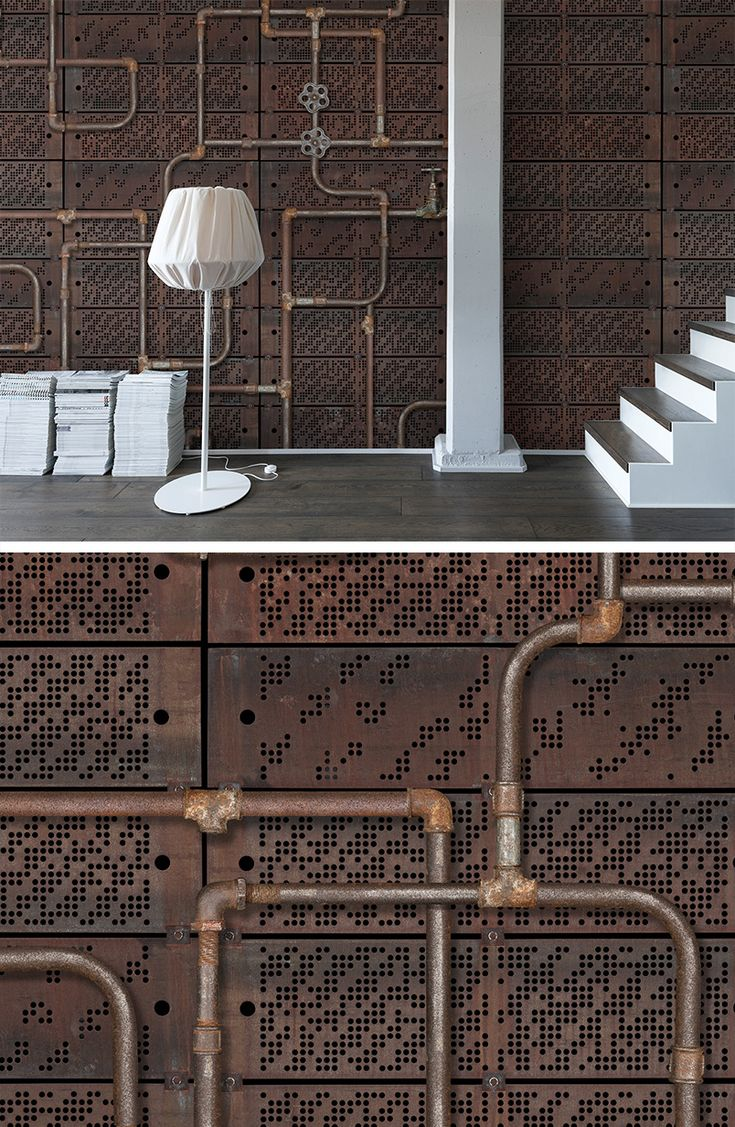 WALL MURAL | WALLPAPER | METAL | DISCOVER | CURIOUS | EXPLORE | EXPLORER | TORN-DOWN | TREASURE HUNT | SECRET PLACES | MYSTERIOUS SPACES | ODD | BEAUTIFUL | PHOTO WALL MURAL | STEAMPUNK | TAKE A SECOND LOOK | LOOK CLOSER | MECHANICS | PIPES | PIPEWORK | RUST