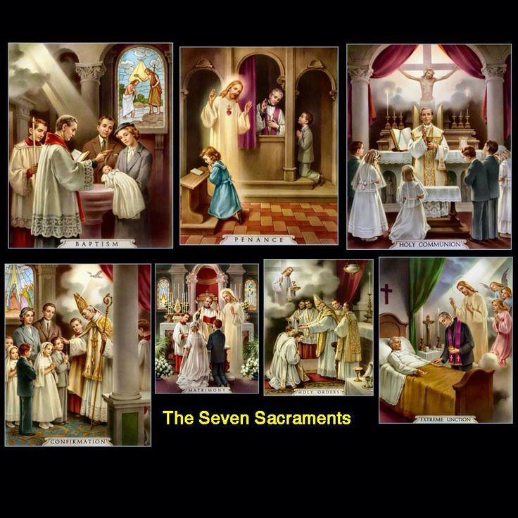 seven sacraments about the actual roman catholic church
