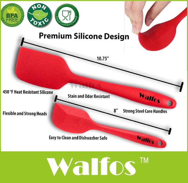 WALFOS food grade Non Tongkat memasak silikon spatula set cookie pastry butter dapur kue kue spatula silikon spatula