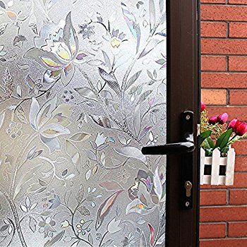 amazoncom niviy etched lace window film static window cling glass door decals frosted