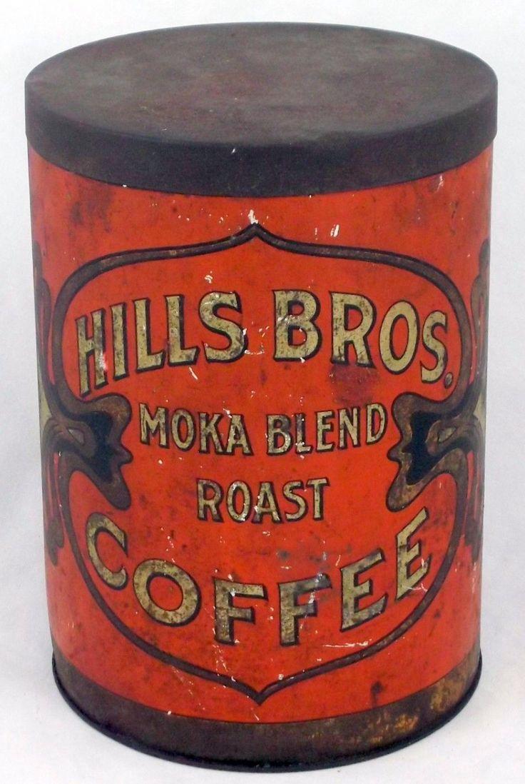 Hills bros moka blend roast coffee antique coffee