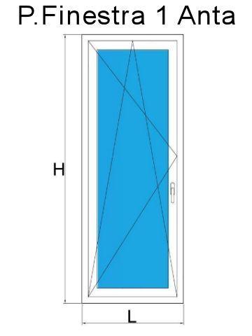 Portefinestre in PVC 1 anta colore bianco liscio. Produzione ...