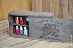 DIY : Vieillir le bois en un temps record! & une bonne récup' de caisse de vin !