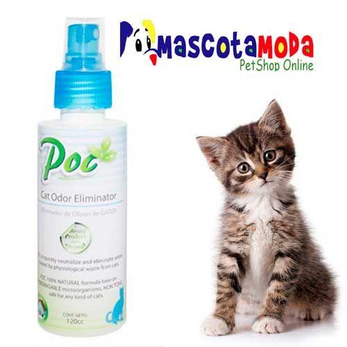 Eliminador de olor a pipi de gatos.
