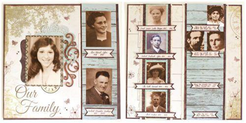 DIY Family Tree Scrapbook Album Kaisercraft Generations By Alicia McNamara