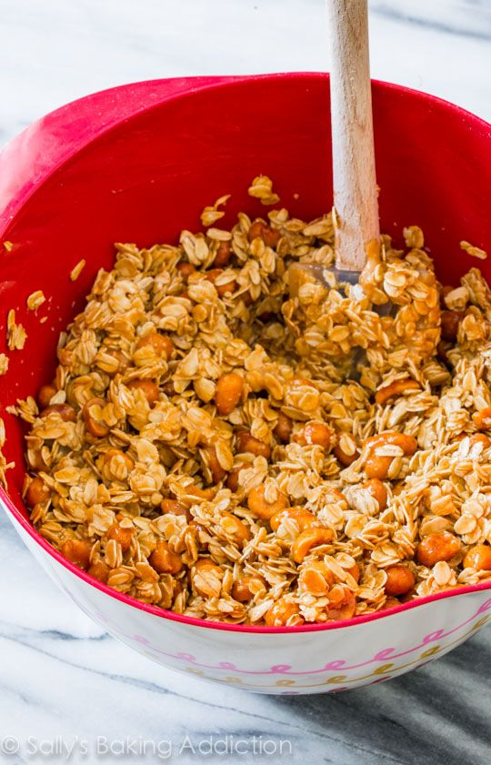 Honey Roasted Peanut Butter Granola made with 7 simple ingredients - Sally's Baking Addiction
