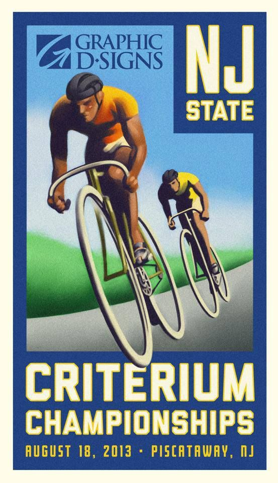 Art deco poster we designed for a race our agency sponsored.