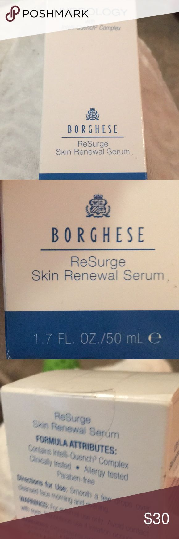 Borghese skin serum/ brand new never used This is brand new never used/ I have never opened this item. No Trades  Thank You Borghese Makeup