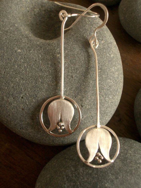drop of life handmade sterling silver tulip by AThousandJoys