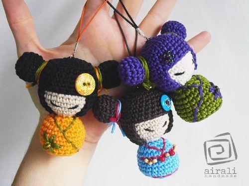 Amigurumipatterns • Amigurumi pattern for Fujiko Kokeshi doll by...