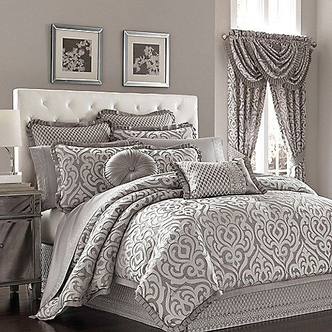 J  Queen New York  Luxembourg King Comforter Set in Antique Silver. 19 best Master Bedding images on Pinterest