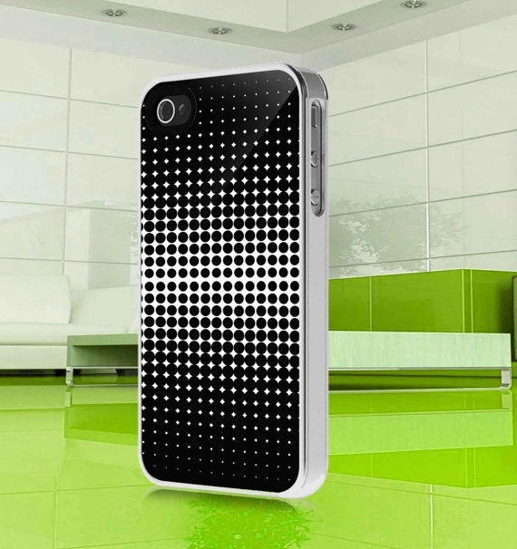 apple iphone case Black and White Polka Dot iphone by MuliasCraft, $15.99