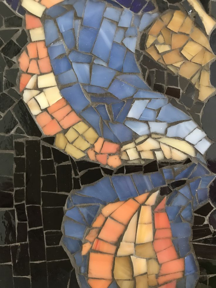 Glass mosaic by Rosemary Pulvirenti for sale at onesmallpieceMosaics.Etsy.com