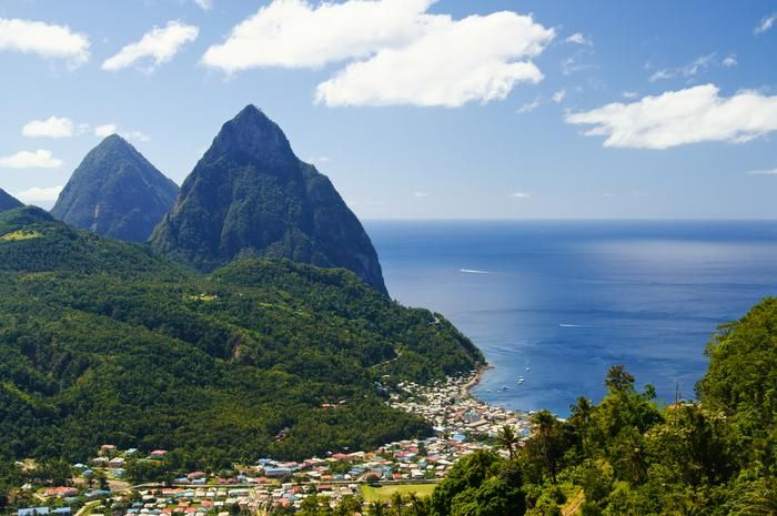 St. Lucia from Top Warm-Weather Thanksgiving Escapes
