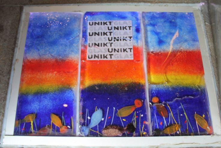 """Our new entrance/""""doormat"""", made by ULVEN Glassfactory for Unikt Glass=) Enjoy !"""