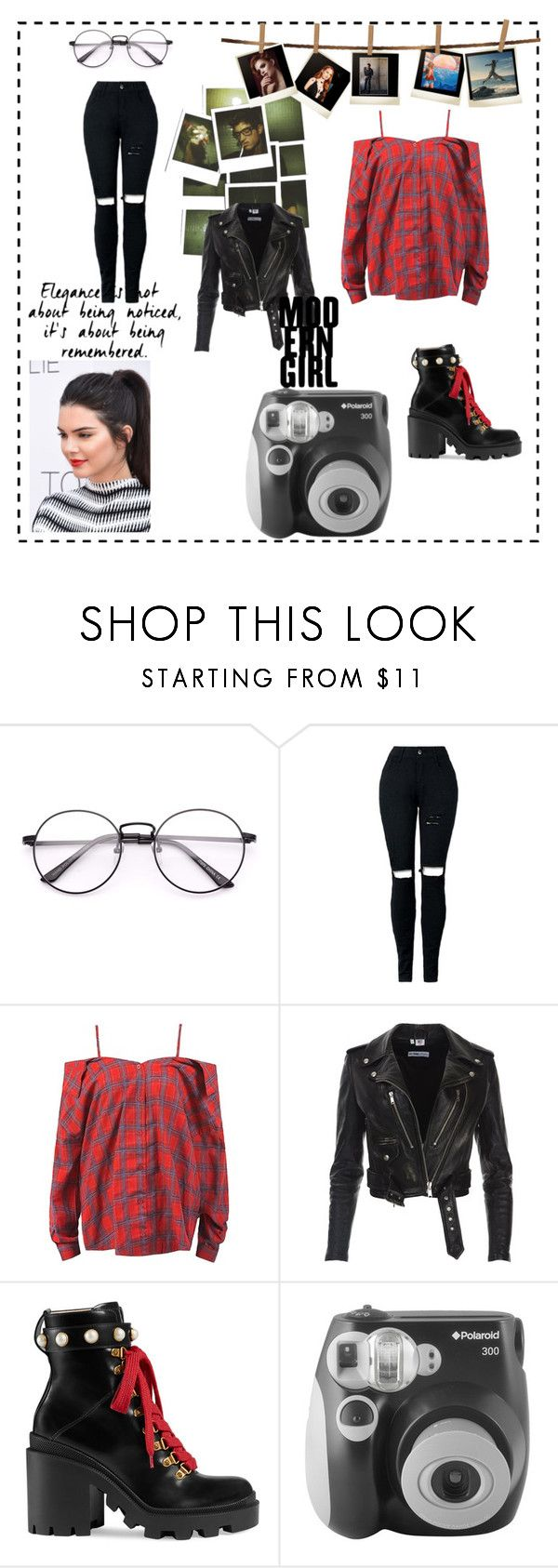 """""""Modern Gal"""" by sarahbear231 on Polyvore featuring Sans Souci, Gucci, Polaroid and modern"""