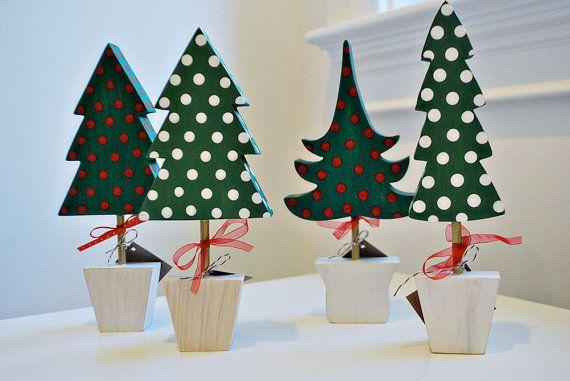 Decorazione dell'albero di Natale in legno dipinto a mano decorazioni albero di Natale vacanza