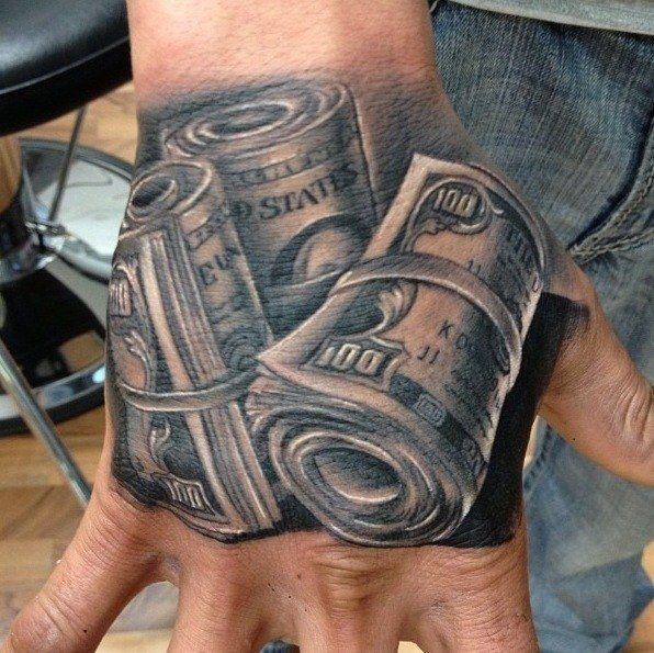 Money Tattoos For Men Dollar Tattoo Hand Tattoos For Guys
