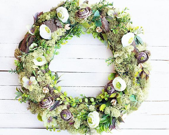 Door wreath moss wreath fall wreaths for front door fall wreath fall door decorations outdoor wreath autumn wreath fall gift housewarming gift