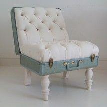 suitcase chair!: Ideas, Craft, Suitcasechair, Vintage Suitcase, Chairs, Suitcases, Suitcase Chair, Furniture, Diy