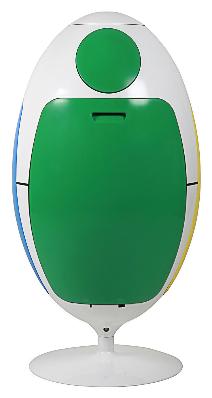 Poubelle de tri Ovetto / Pivotante - 51 Litres / 3 bacs Blanc / Portes : vert, bleu, jaune - Soldi Design  http://www.homelisty.com/achat-poubelle-tri-selectif-ovetto/