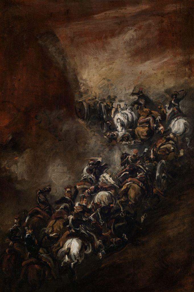 Piotr Michałowski - Bitwa pod Samosierrą (wersja z ok. 1837 r.) Szarża Polaków w 1808 r. (XIX w.) otwierająca Napoleonowi drogę do Madrytu/wojny napoleońskie
