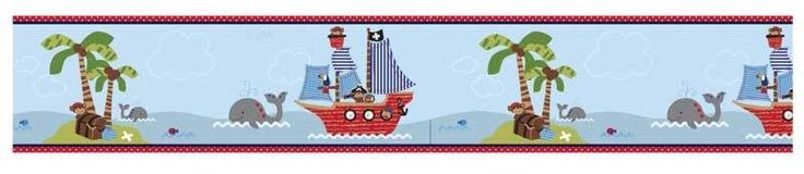 Treasure Island Wallpaper Border - 6 in x 15 ft #BedtimeOriginals