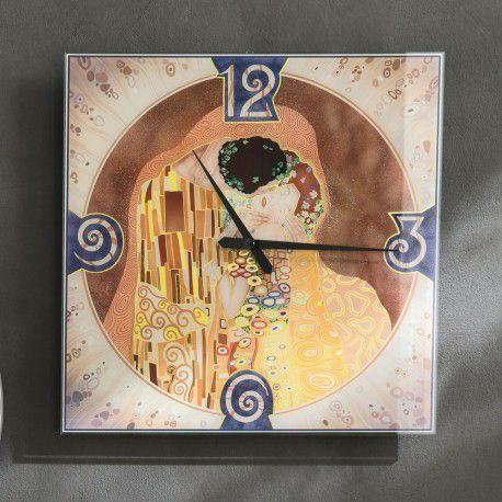 #Adriani&Rossi #design #cristallo #temperato #style #arredamento #oggetti #personalizzare #casa #arredo #interni #orologio #serigrafia #klimt #bacio