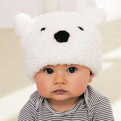 Babymuts via Ouderwets breien op FB.