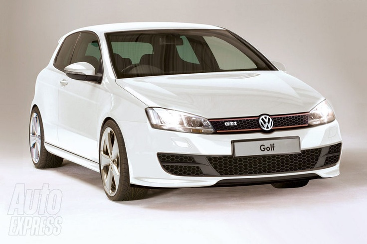 New VW Golf GTI front ...